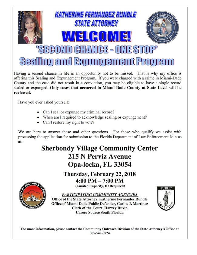 Flyer - Sealing and Expungement Program (2018) Eng.jpg